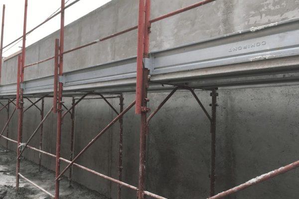 Nuovo intonaco muro di cinta